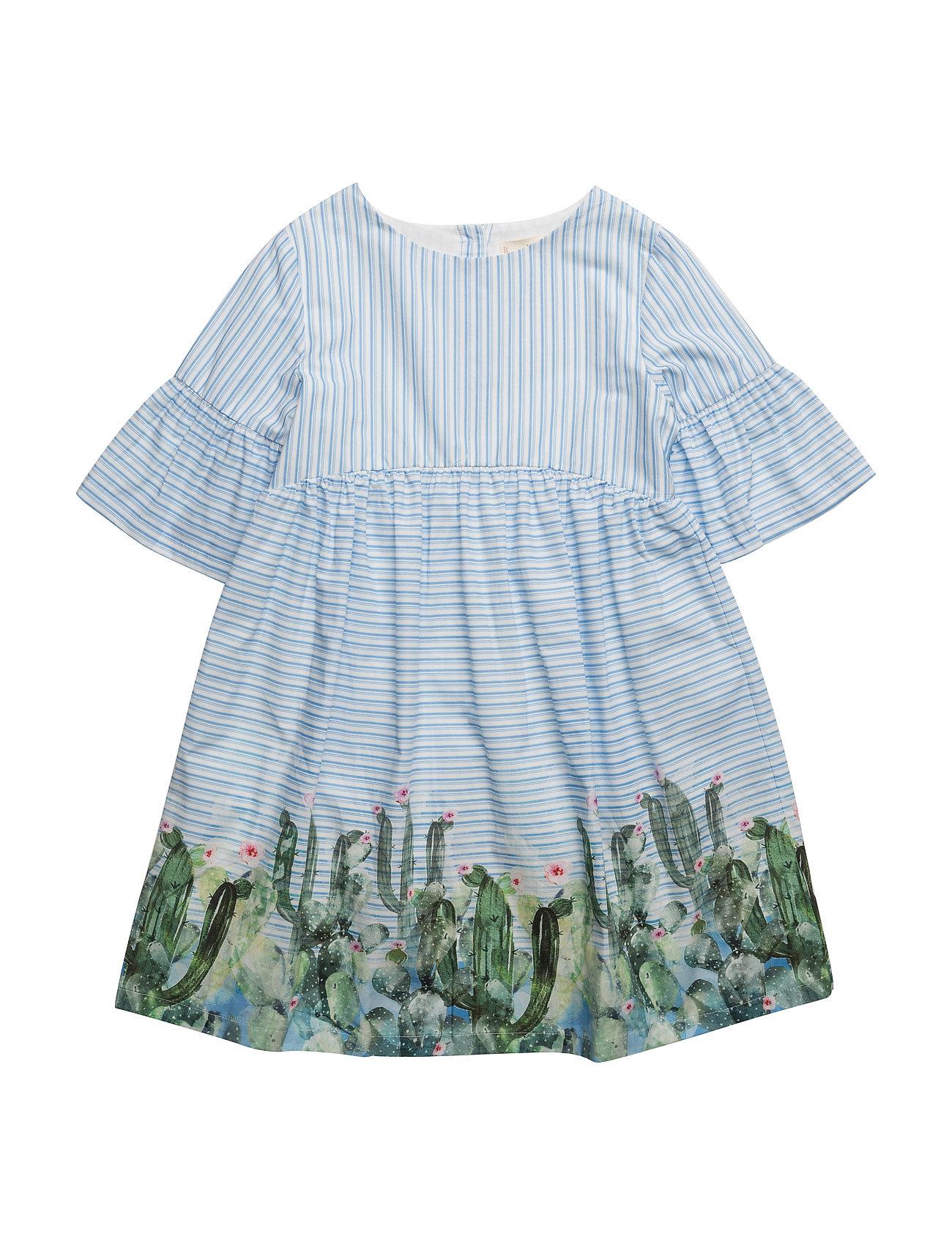 5d51a490b103 Printed Cotton Dress Mango Kids Kjoler til Børn i Lt-Pastel blå ...