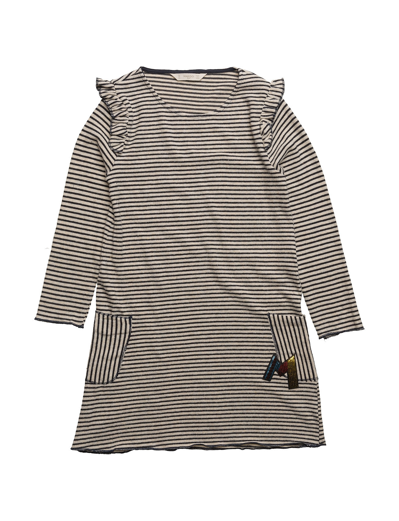 Striped Jersey Dress Mango Kids Kjoler til Børn i Navy blå