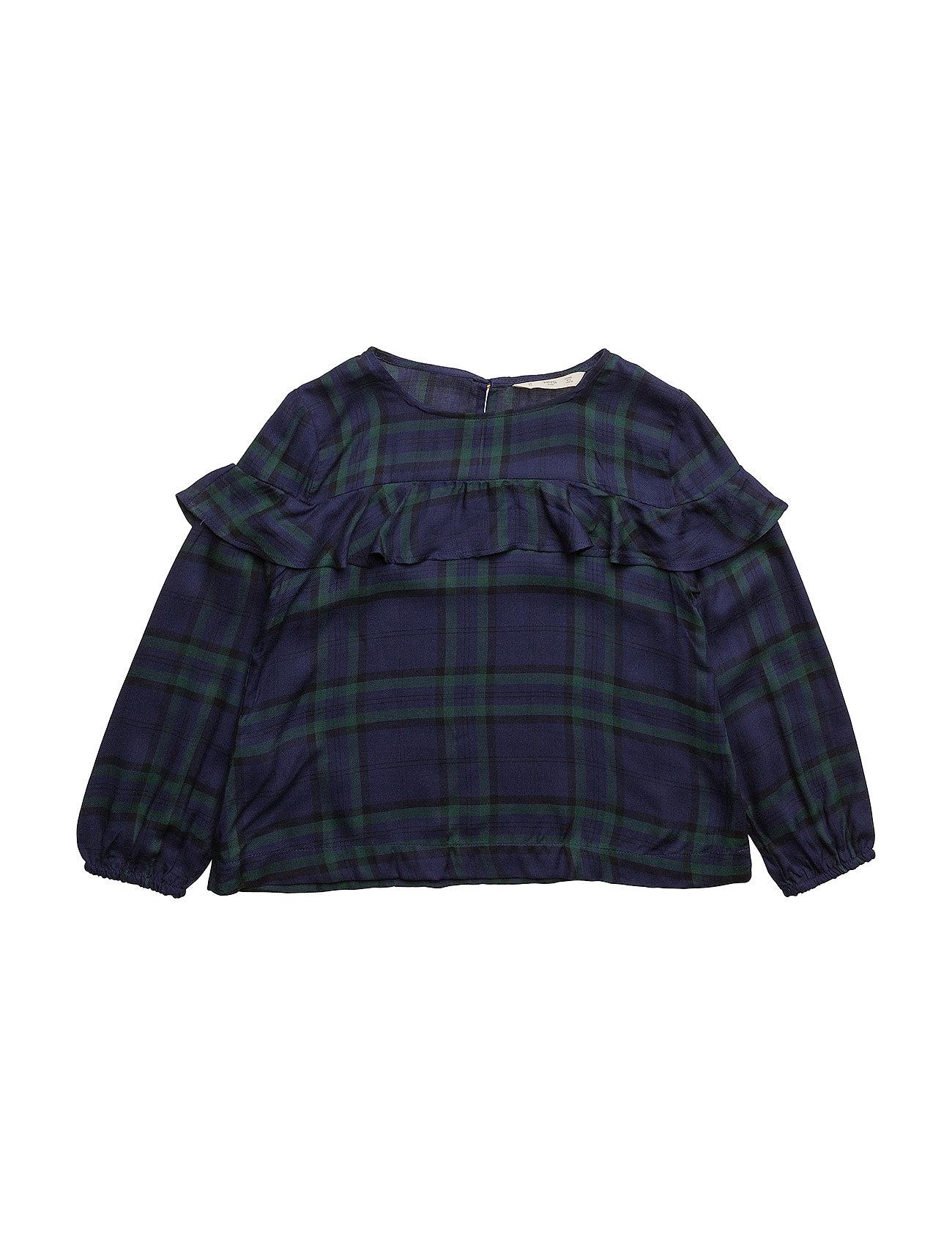 Checked frill blouse fra mango kids fra boozt.com dk