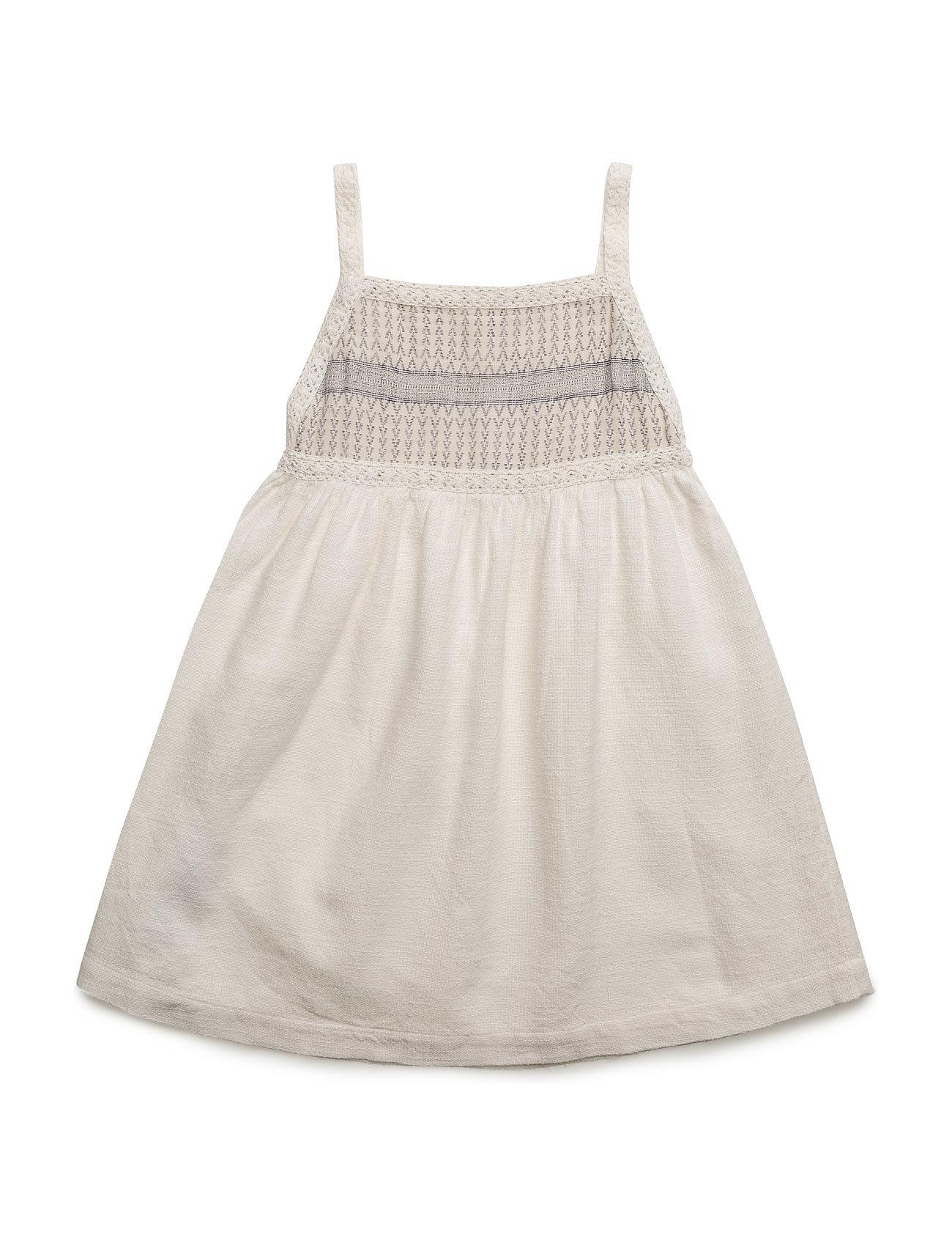 Embroidered Panel Dress Mango Kids Kjoler til Børn i Natural White