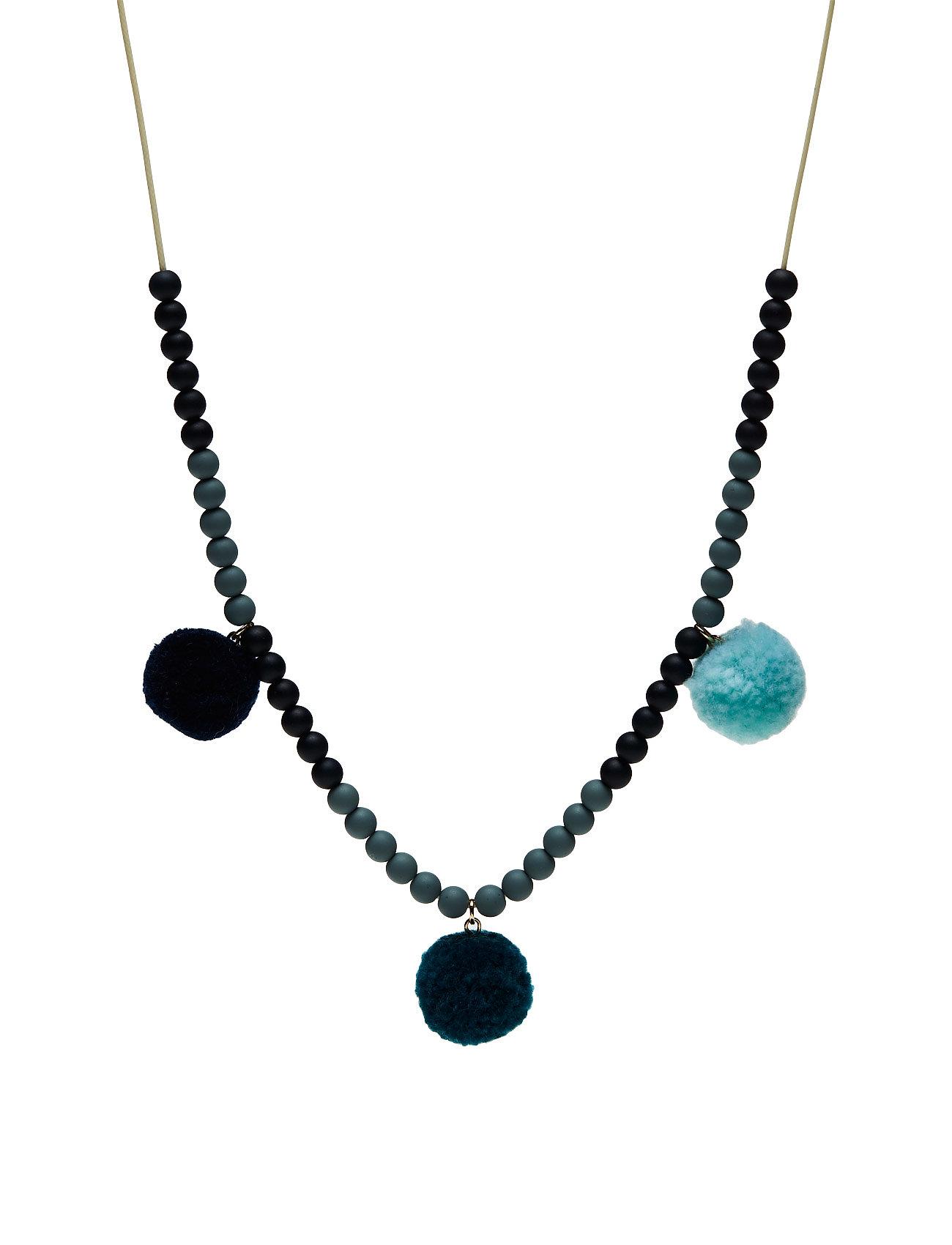 Pompom Ethnic Necklace Mango Kids Accessories til Piger i Medium Blå