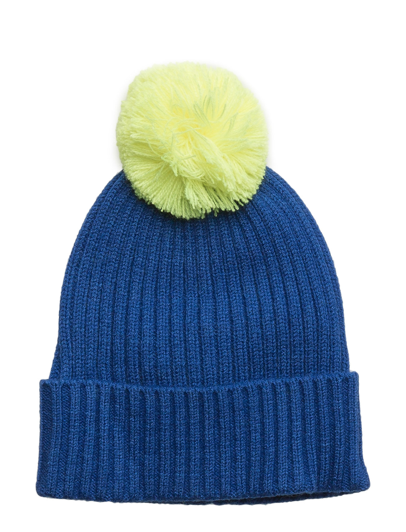 Contrast Pompom Hat Mango Kids Hatte & Caps til Børn i Medium Blå