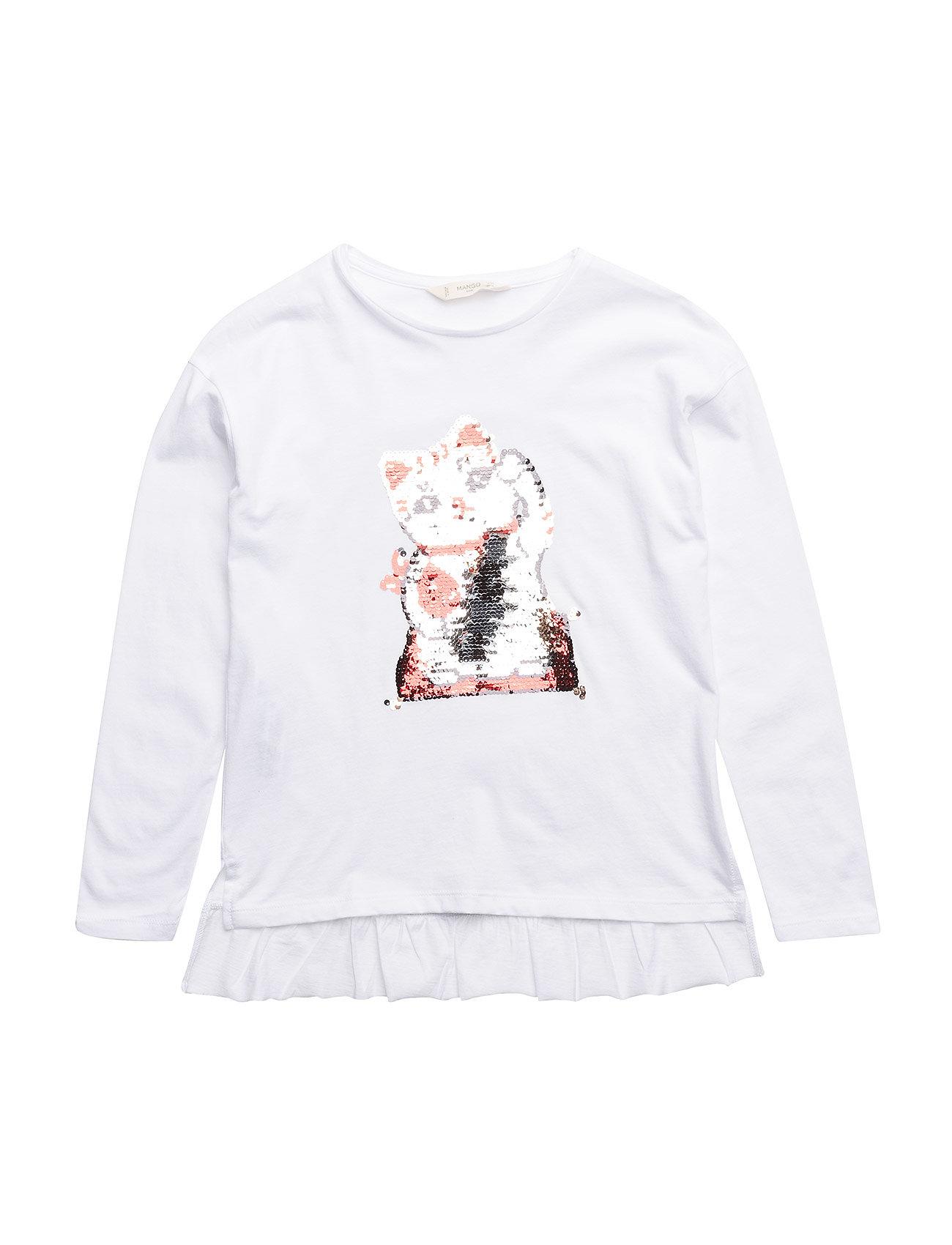 reversible sequins t shirt white 129 kr mango kids. Black Bedroom Furniture Sets. Home Design Ideas