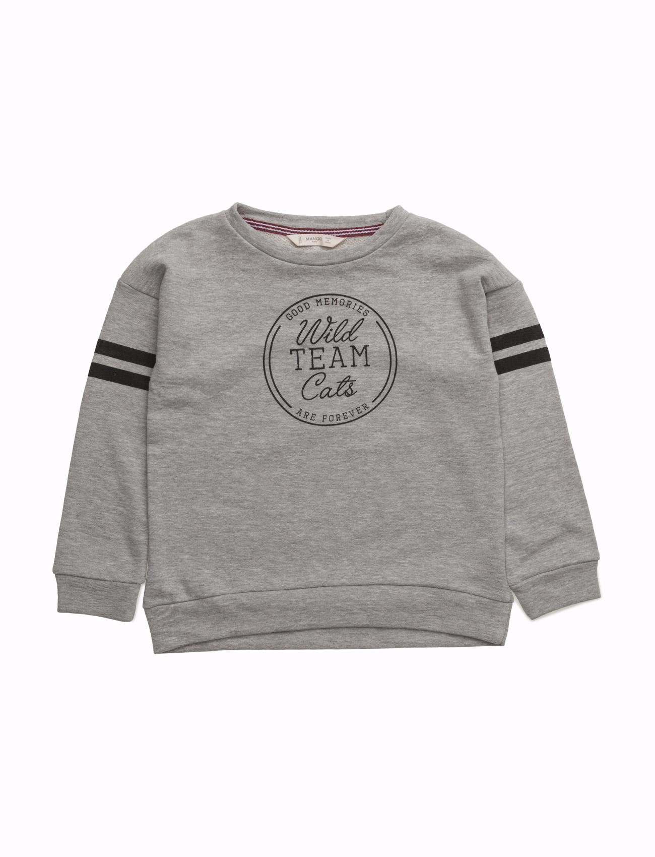 Message Plush Sweatshirt Mango Kids  til Børn i Mellem grå