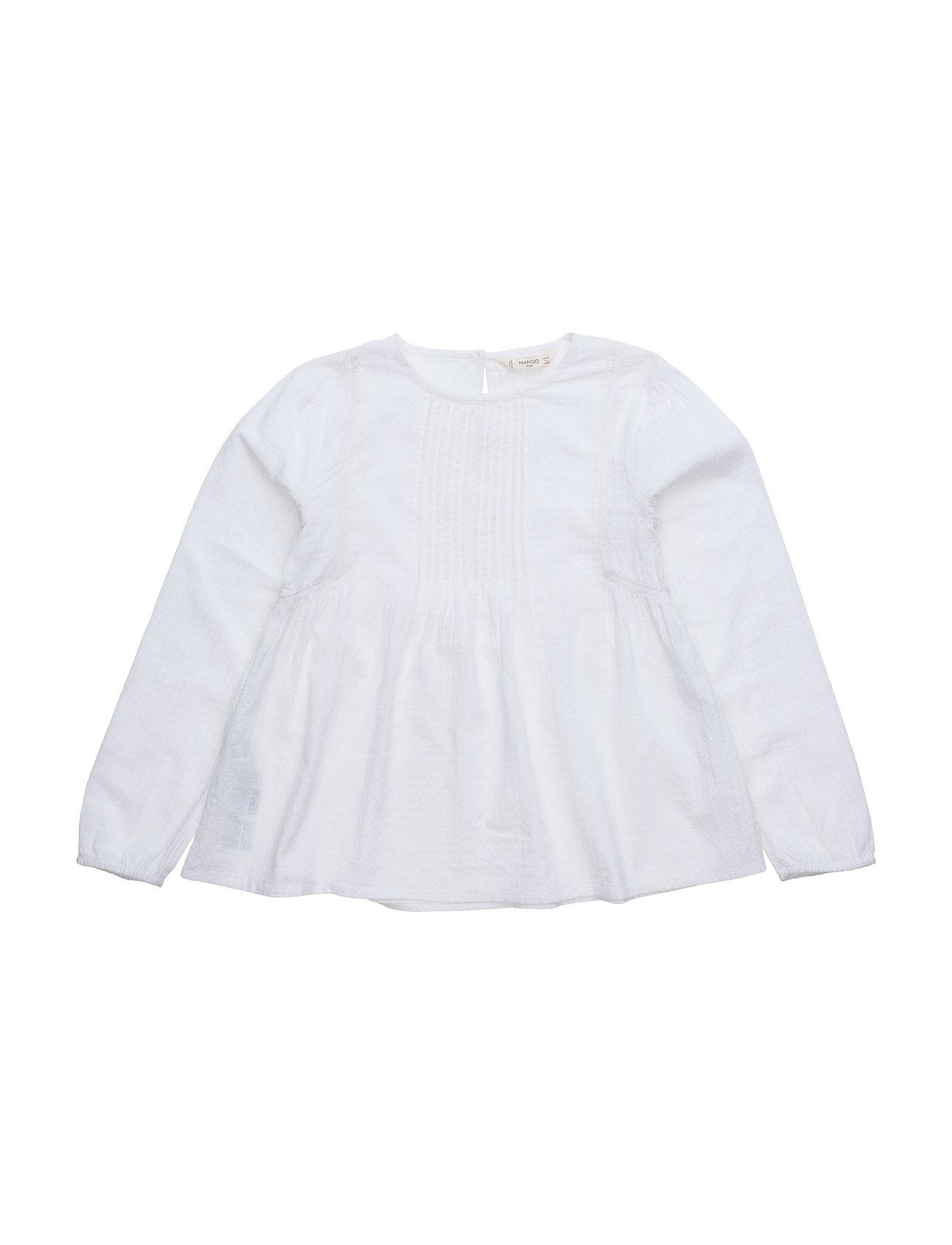 Trim Cotton-Blend Blouse Mango Kids Bluser & Tunikaer til Piger i
