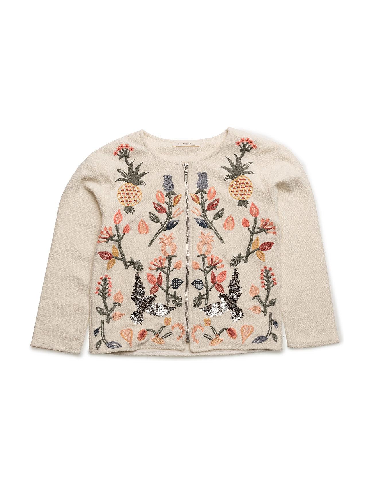 Sequin Embroidered Jacket Mango Kids Jakker & Frakker til Børn i