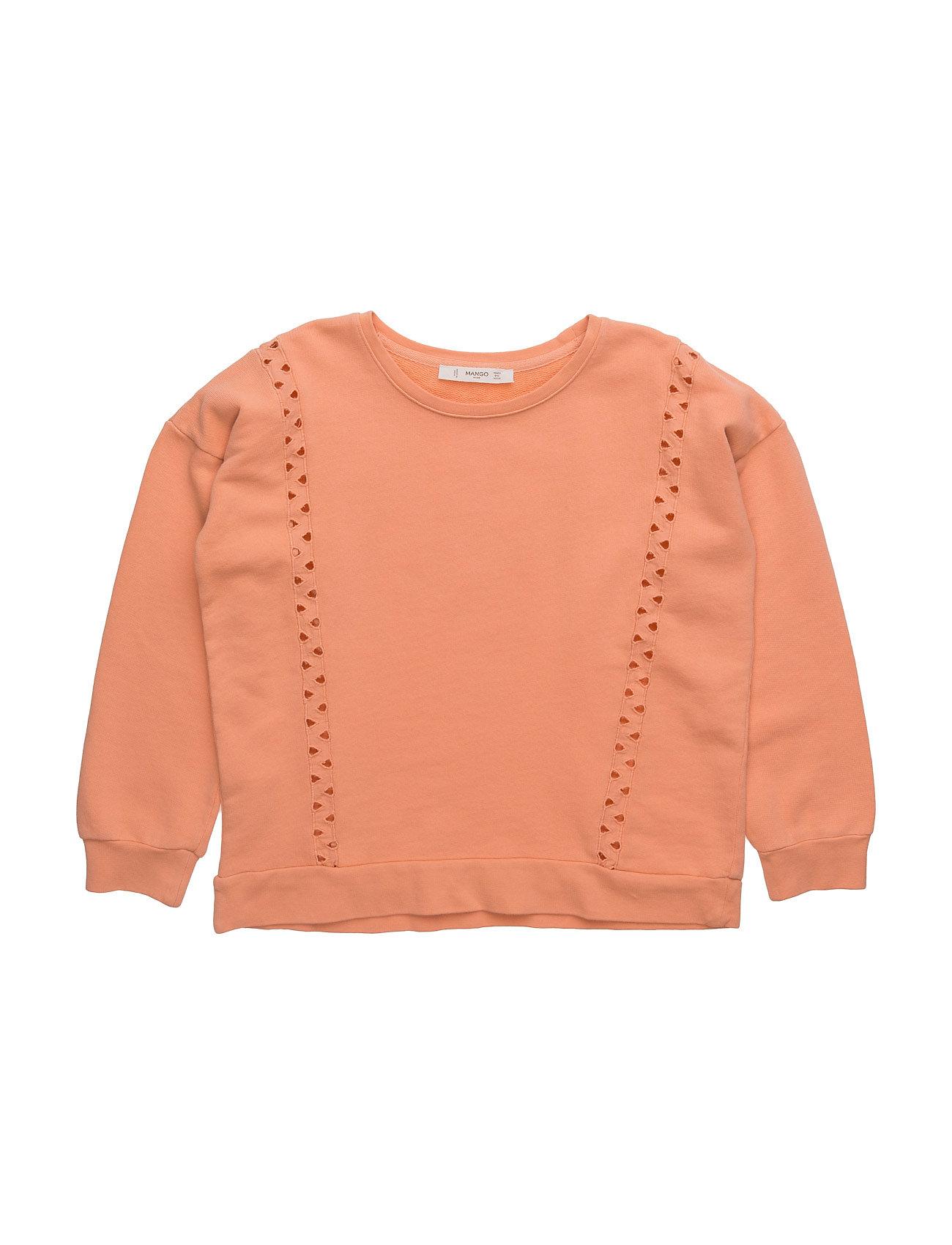 Mixed Cotton Sweatshirt Mango Kids  til Børn i Lyserød