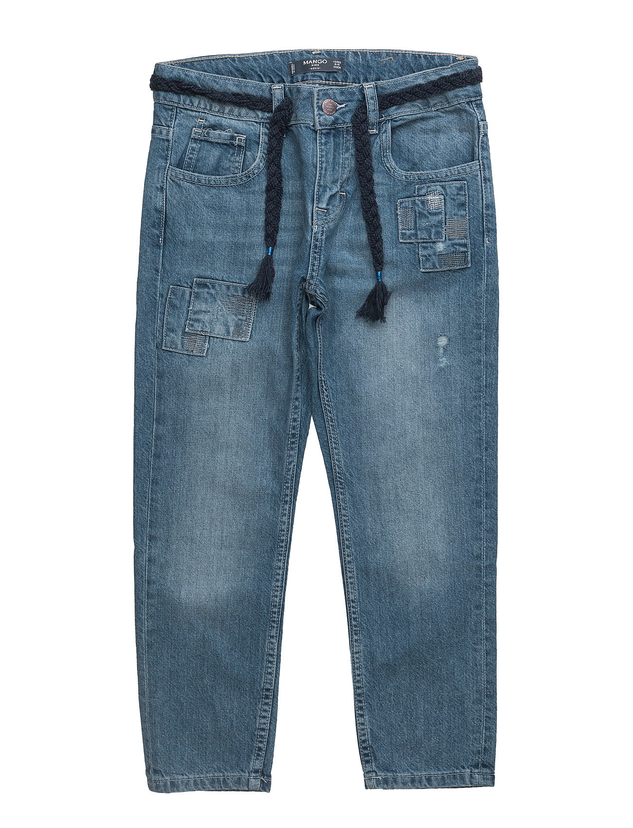 Patch Boyfriend Jeans Mango Kids Jeans til Piger i Open Blå