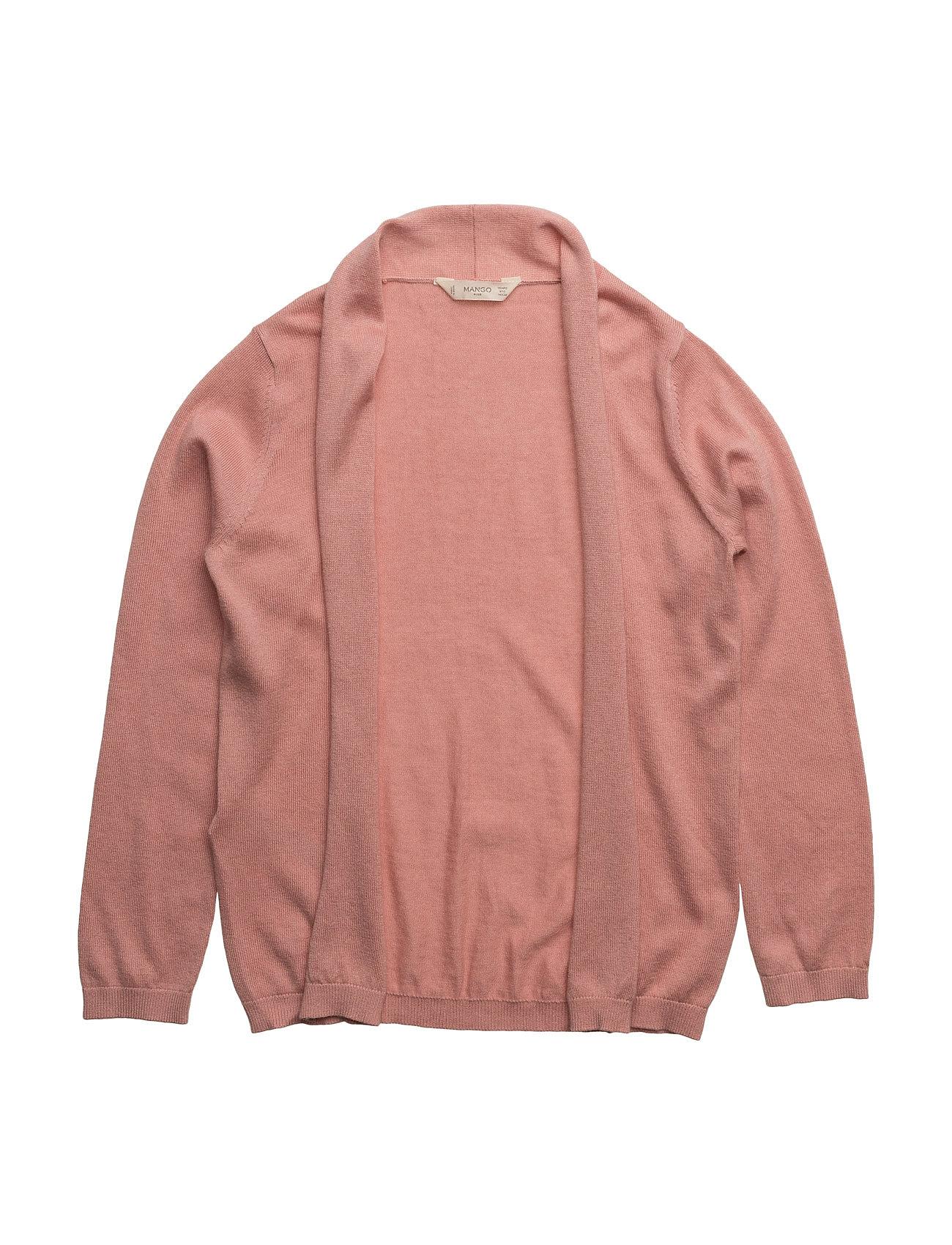 Flecked Fine-Knit Cardigan Mango Kids  til Børn i Pink