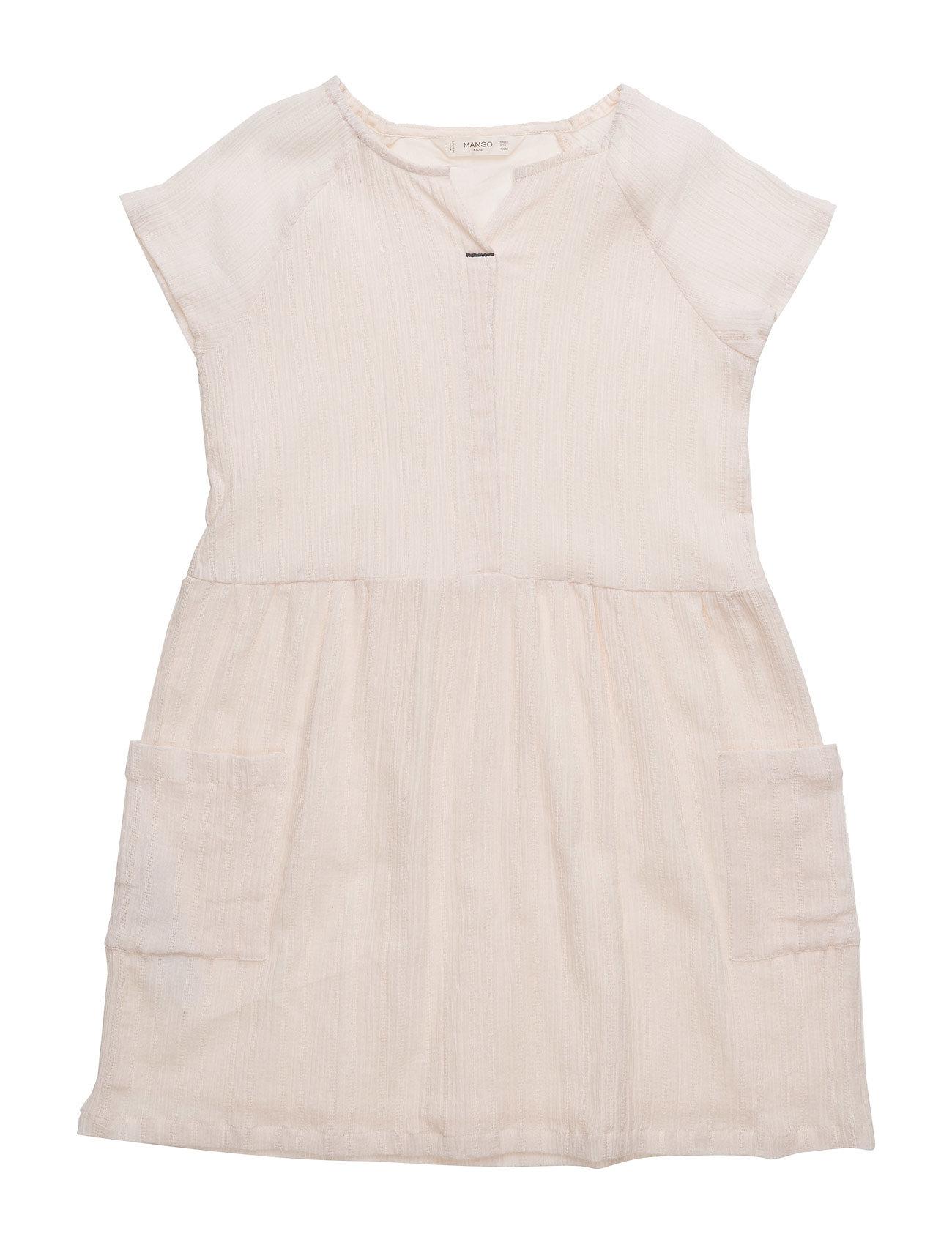 Textured Cotton Dress Mango Kids Kjoler & Nederdele til Piger i Pink
