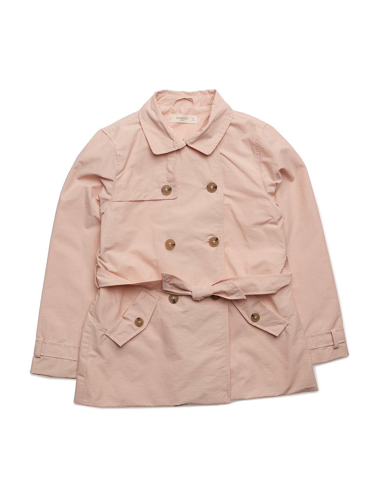 Classic Cotton Trench Coat Mango Kids Jakker & Frakker til Børn i Pink