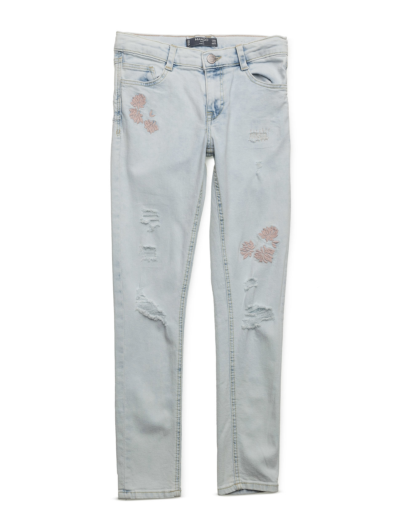 Embroidered Patch Jeans Mango Kids