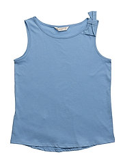 Bow cotton t-shirt - MEDIUM BLUE