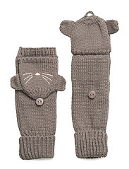 Cat hood gloves - GREY