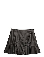 Ruffled skirt - BLACK