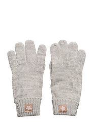 Star knitted gloves - GREY