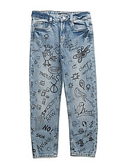 Regular-fit printed jeans - OPEN BLUE