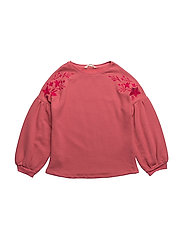 Embroidered cotton sweatshirt - PINK