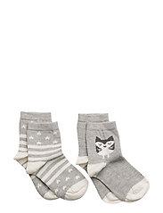2 pack mixed socks - GREY