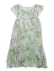 Floral print dress - TURQUOISE - AQUA
