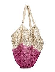 Two-tone net bag - PINK
