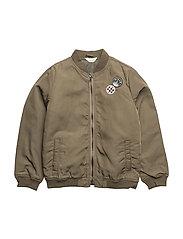 Patches bomber jacket - BEIGE - KHAKI