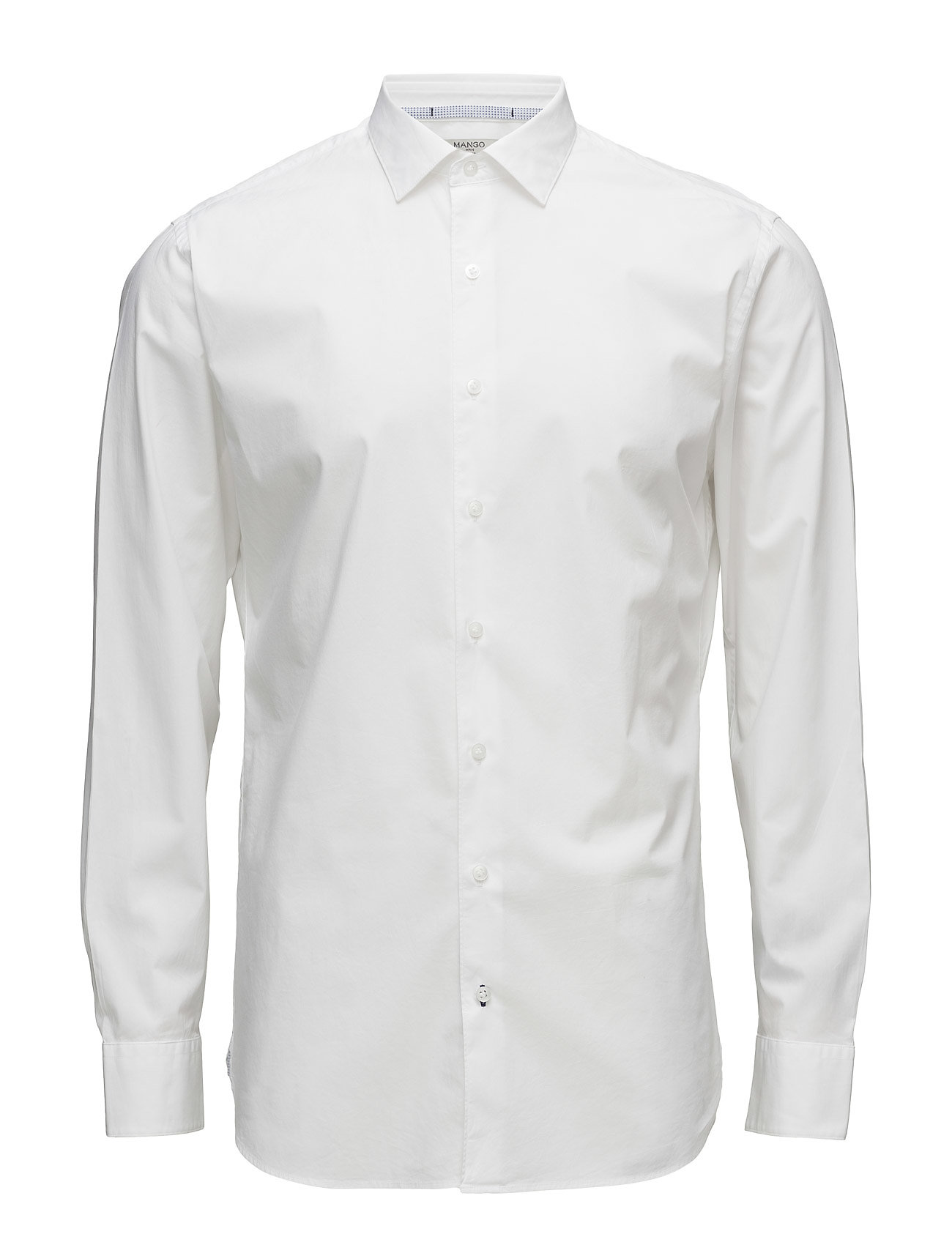 Slim-Fit Cotton Shirt Mango Man Business til Herrer i hvid