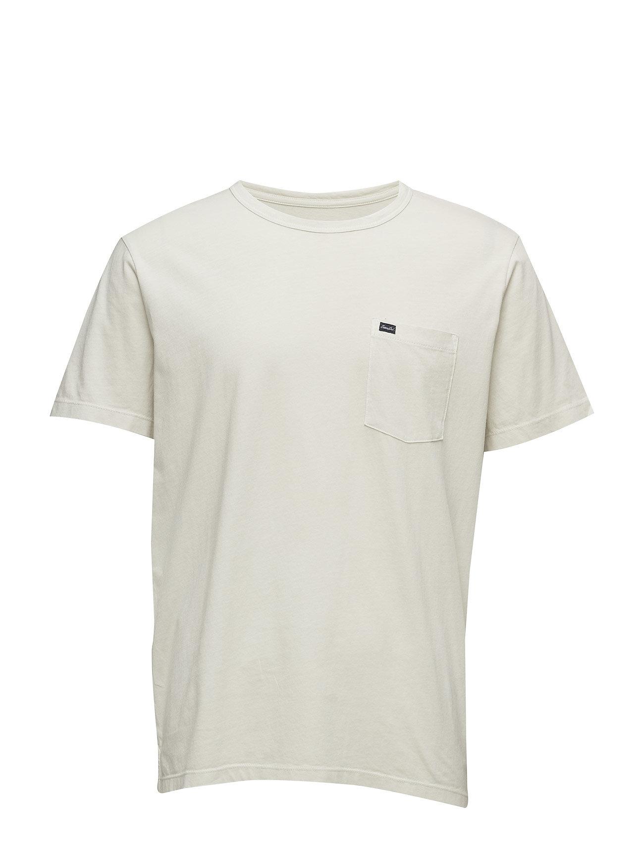 Pocket Cotton T-Shirt Mango Man Kortærmede til Herrer i Lt Pastel Brown