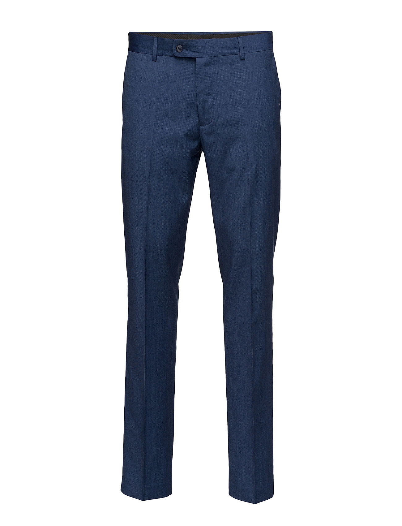Slim-Fit Patterned Suit Trousers Mango Man Bukser til Herrer i Bright blå