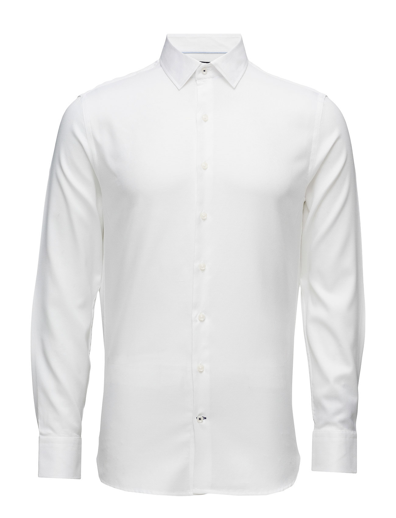 Slim-Fit Tailored Cotton Shirt Mango Man Business til Herrer i hvid