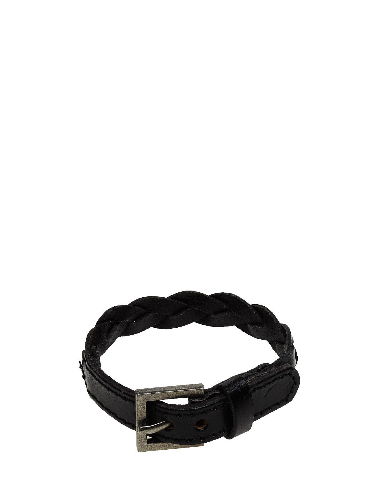 Leather Braided Bracelet Mango Man Smycken
