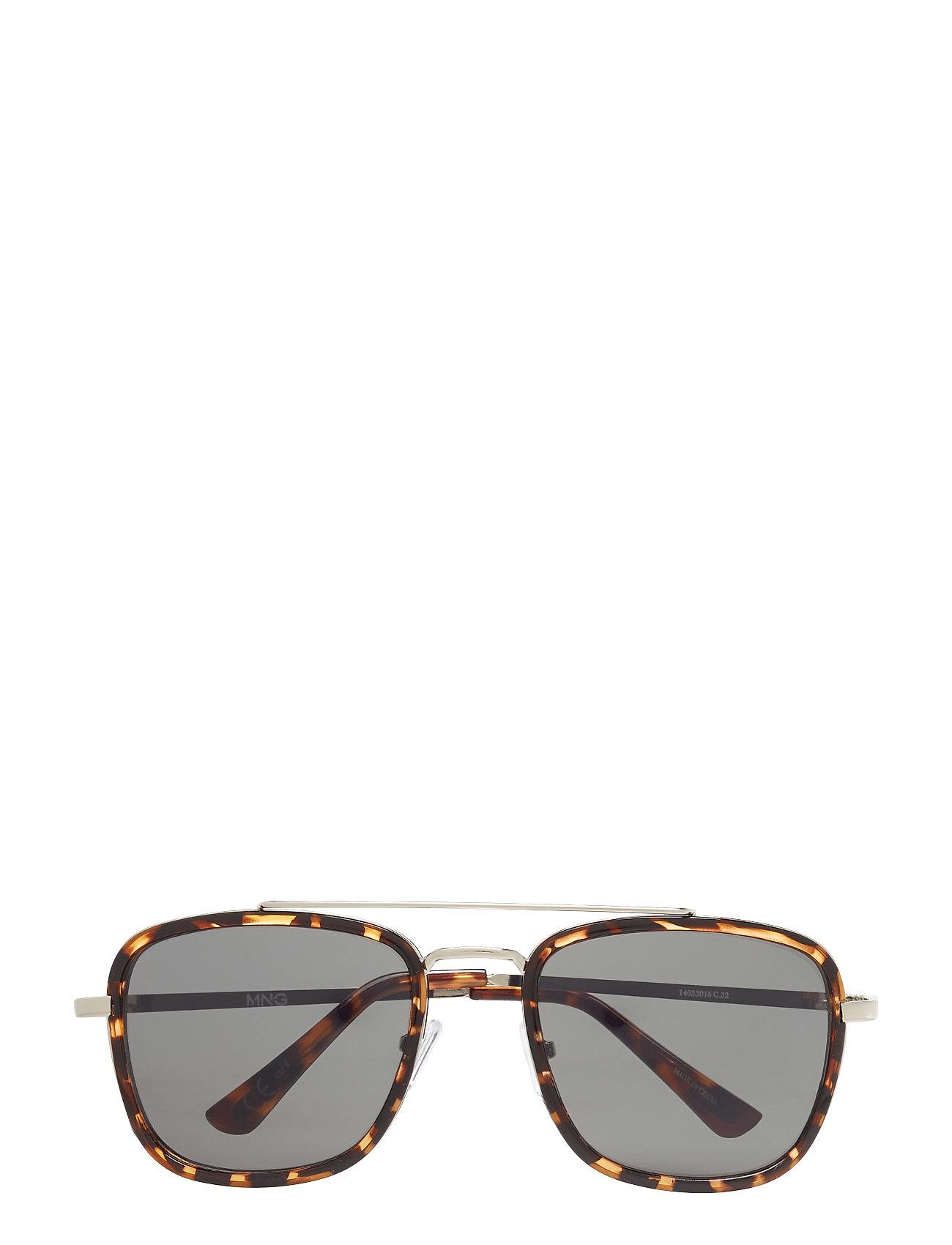 Metal Appliqu Sunglasses Mango Man Solbriller til Herrer i Mørkebrun