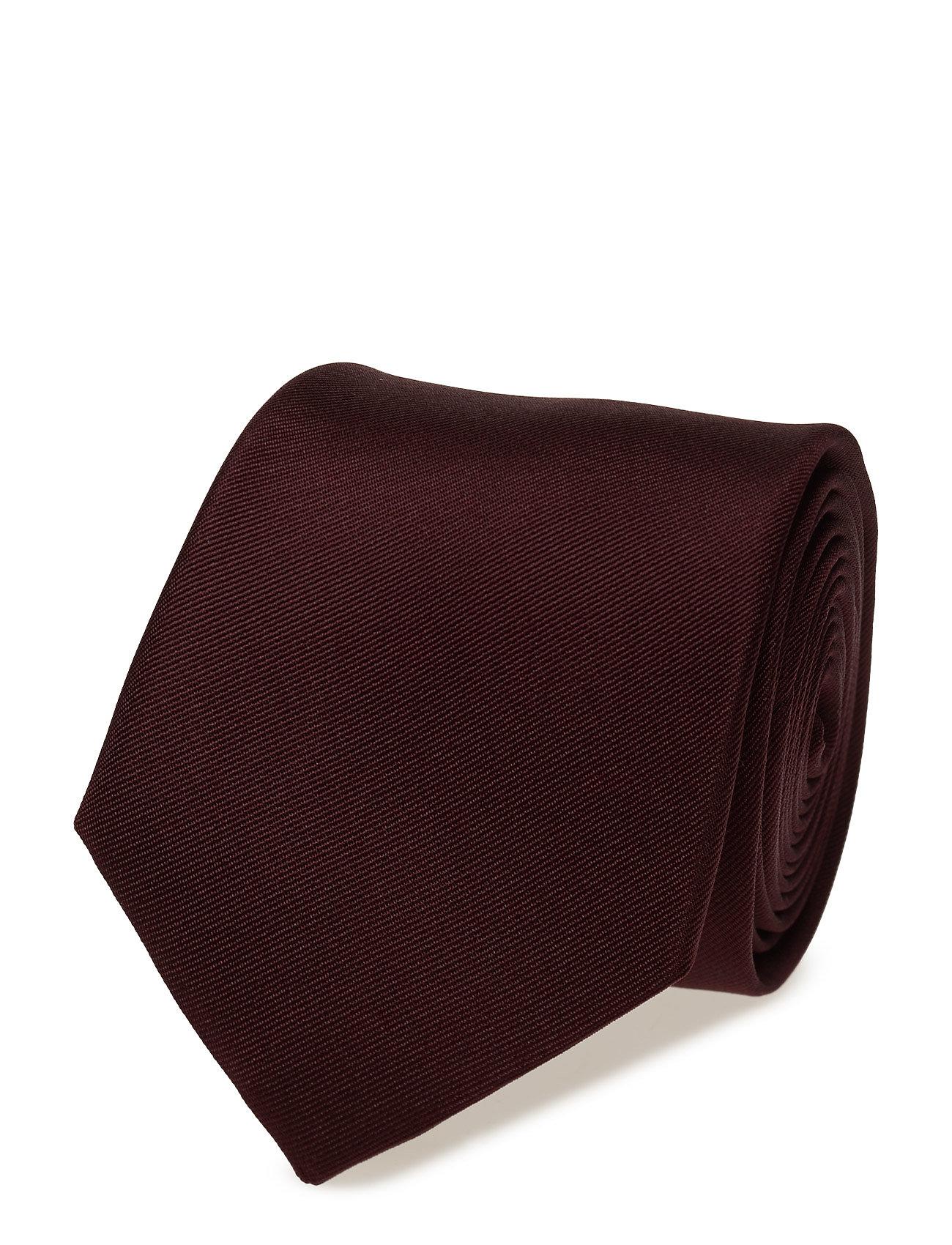 Textured Silk Tie Mango Man Slips til Herrer i Mørkerød