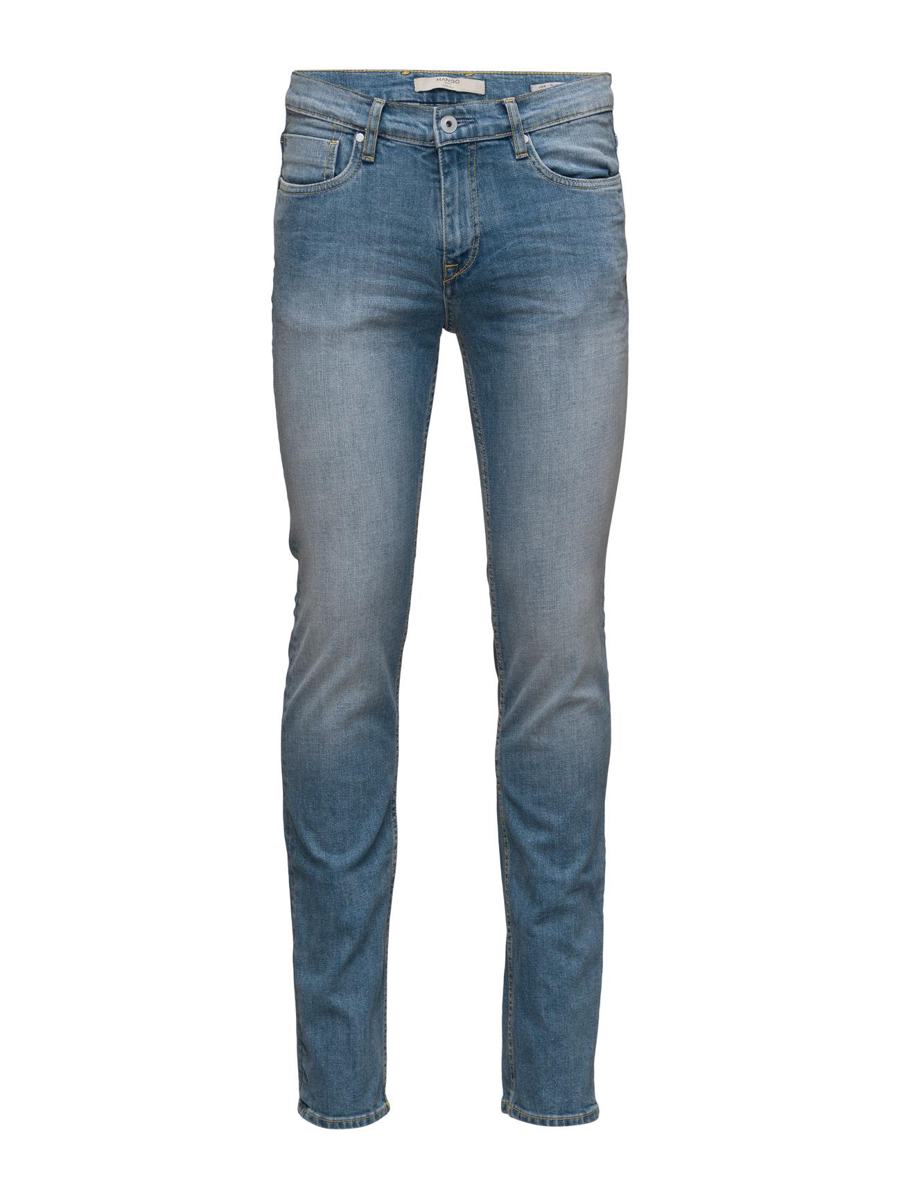 Slim-Fit Light Wash Jan Jeans Mango Man Slim til Mænd i Open Blå