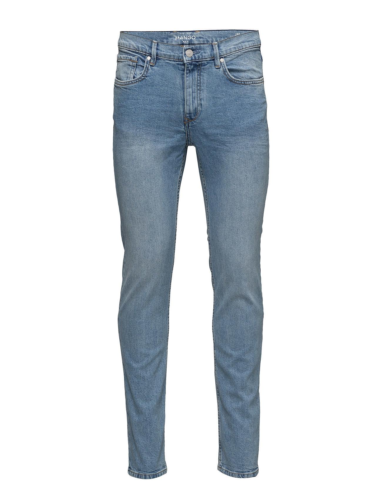 Slim-Fit Light Wash Jan Jeans Mango Man Jeans til Mænd i Open Blå