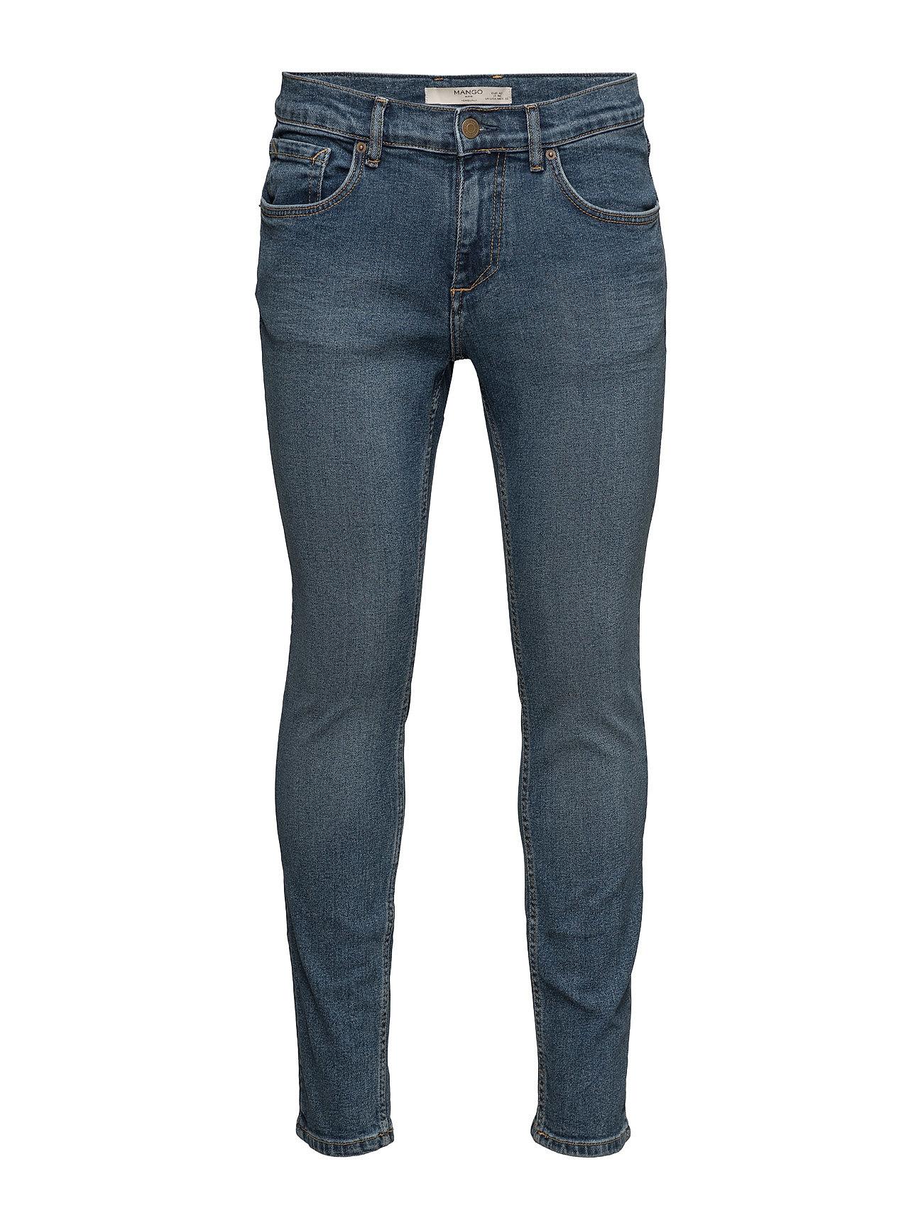 Skinny Dark Wash Jude Jeans Mango Man Skinny til Mænd i Open Blå