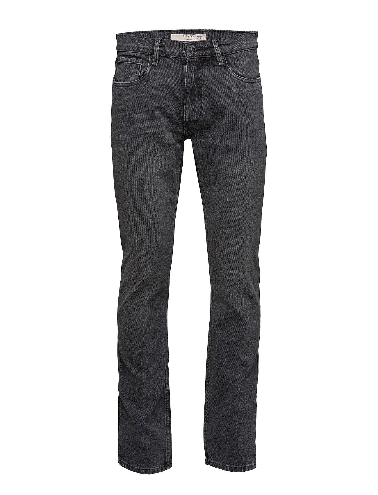 Straight-Fit Grey Bob Jeans Mango Man Almindelig til Herrer i Open Grey