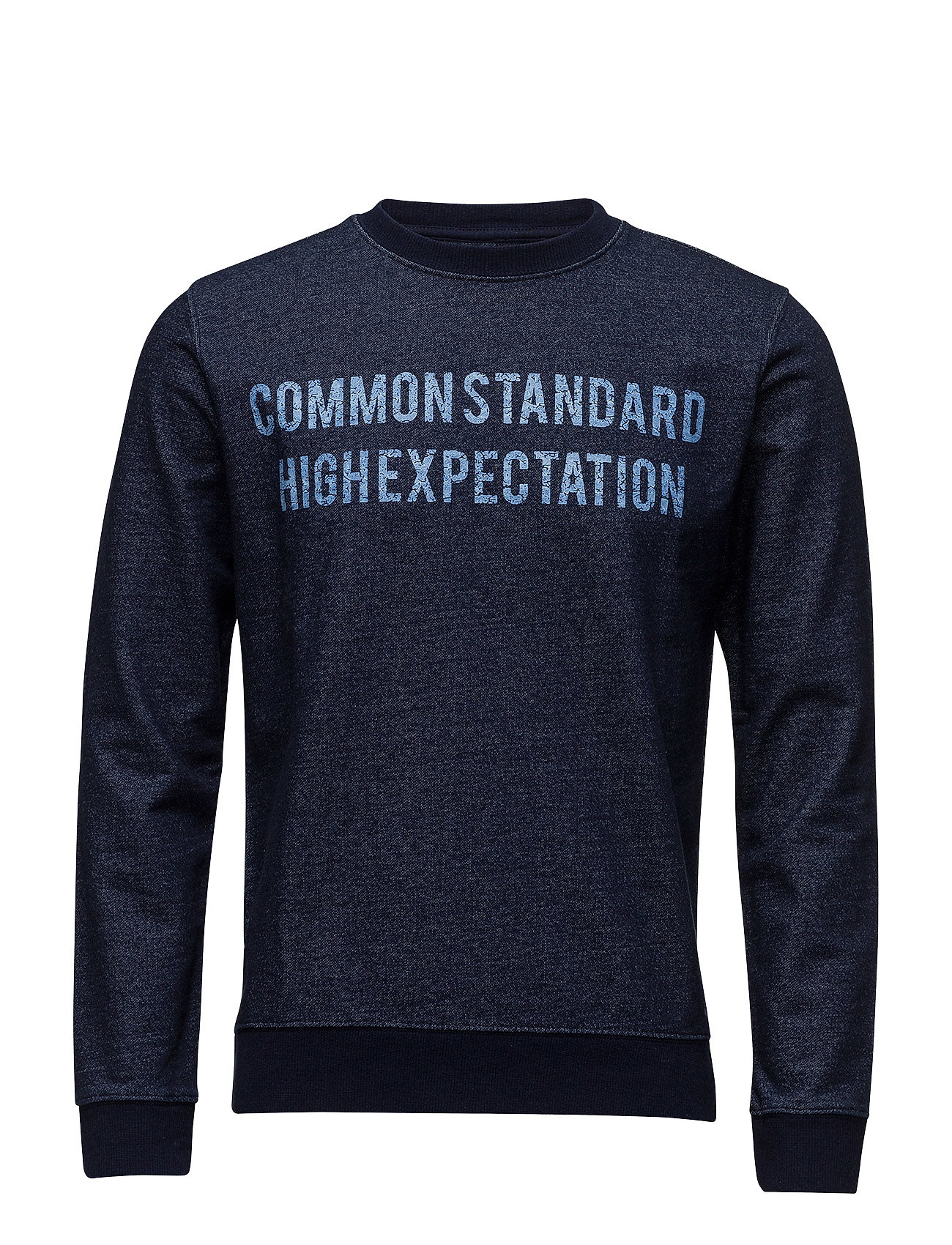 Message Cotton Sweatshirt Mango Man Striktrøjer til Mænd i Medium Blå