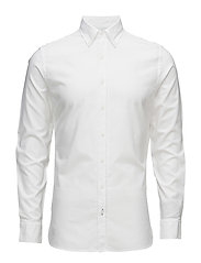 Slim-fit cotton Oxford shirt - WHITE
