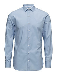 Slim-fit cotton shirt - LT-PASTEL BLUE
