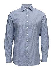 Slim-fit micro check shirt - NAVY