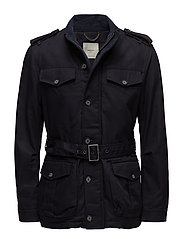 Pockets cotton field jacket - NAVY