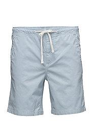 Cotton jogging bermuda shorts - LT-PASTEL BLUE