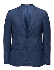 Slim-fit patterned suit blazer - BRIGHT BLUE
