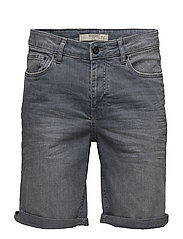 Grey denim bermuda shorts - OPEN GREY