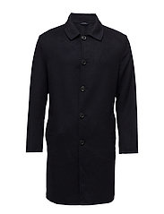 Wool handmade coat - NAVY