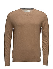 Textured cotton cashmere-blend sweater - MEDIUM BROWN