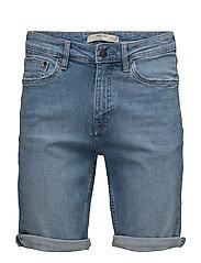 Light denim bermuda shorts - OPEN BLUE