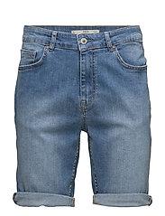 Medium wash denim bermuda shorts - OPEN BLUE