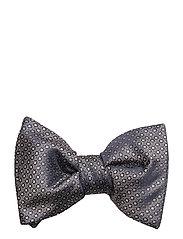 Geometric print bow tie - NAVY